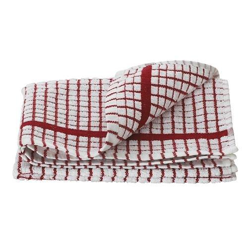 Lamont Poli-Dri Tea Towel/Dish Cloth, Red