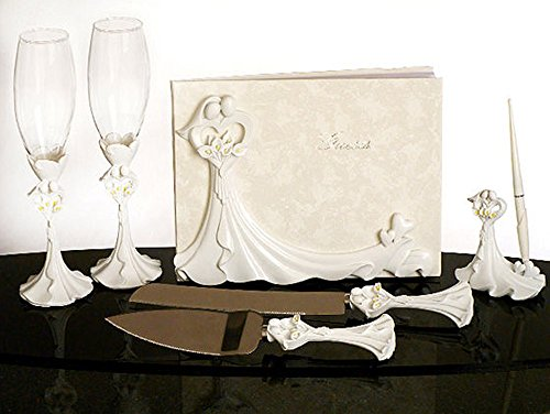 Calla Lily Design Complete Wedding Accessory Set