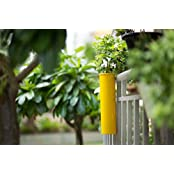 PoppadumArt Hang On! Balcony Planter - Sunshine Yellow