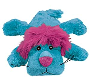 KONG Cozie King the Purple Haired Lion, Medium Dog Toy, Blue