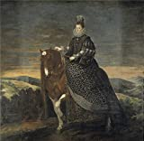 'Velazquez Diego Rodriguez De Silva Y (and Other) La Reina Margarita De Austria A Caballo 1628 35 ' Oil Painting, 24 X 25 Inch / 61 X 62 Cm ,printed On Polyster Canvas ,this Amazing Art Decorative Prints On Canvas Is Perfectly Suitalbe For Bedroom Gallery Art And Home Artwork And Gifts