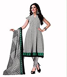 Neerja creation womens cotton Unstiched Dress material(K-1010_White)