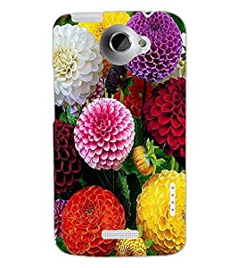 HTC ONE X FLOWERS Back Cover by PRINTSWAG