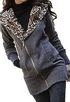 Luckshop2012 Leopard Veste Manteau Femme réchauffer chandails sweat à capuche Taille