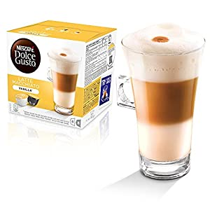 Nescafe Dolce Gusto Coffee Pods Capsules CARAMEL LATTE + VANILLA LATTE = Pack of 2, 32 pods 16 servings