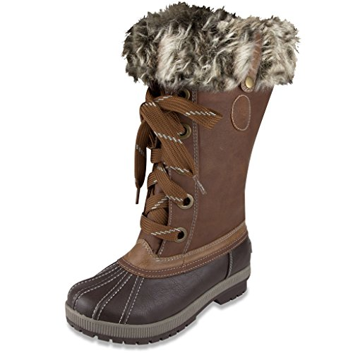 London Fog Womens Melton Cold Weather Waterproof Snow Boot Cognac 9 M US (Baby Trend Rain Cover compare prices)