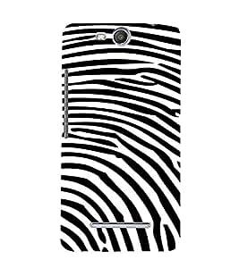 PrintVisa Fingerprint Pattern 3D Hard Polycarbonate Designer Back Case Cover for Micromax Canvas Juice3 Q392