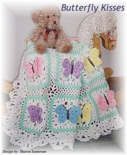 Butterfly Kisses baby afghan or blanket crochet pattern | Afghan