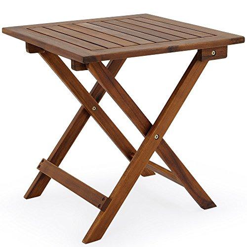 Beistelltisch-Klapptisch-Holz-Tisch-Gartentisch-Gartenmbel-Garten-Couchtisch-Kaffeetisch-Hartholz-Akazie