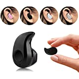 Mini Invisible PChero® Ultra Small Bluetooth 4.0 Earbud Headset with microphone, Support Hands-free Calling For Smartphones, Perfect for Listening to Music at work - [Black]