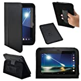 Stuff4 PU Leather Professional Portfolio Magnetic Case/Stand Cover for 7 inch Tesco Hudl - Black