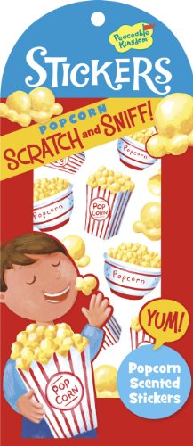 Peaceable Kingdom / Scratch & Sniff Popcorn Scented Sticker Pack front-655543
