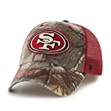 NFL San Francisco 49ers '47 Huntsman Closer Camo Mesh Stretch Fit Hat, One Size, Realtree Camouflage
