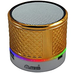 M MHB Splash-Proof Wireless Bluetooth Portable Speaker with Dynamic LED Lights