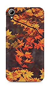 Amez designer printed 3d premium high quality back case cover for HTC Desire 828 (leaves autumn )