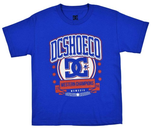 Dc Shoes Boys' Extra Point Graphic T-Shirt (8-16)-Royal Blue-Youth Large front-993718