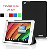 VSTN ? Acer Iconia A1-830 ultra-thin Smart Cover Case, Only fit Acer Iconia A1-830 (For Acer Iconia A1-830, Black)
