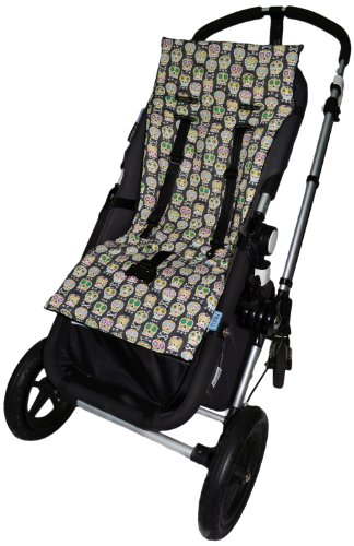 Tivoli Couture Nu Comfort Memory Foam Stroller Pad And Seat Liner, Cool Skulls front-681769