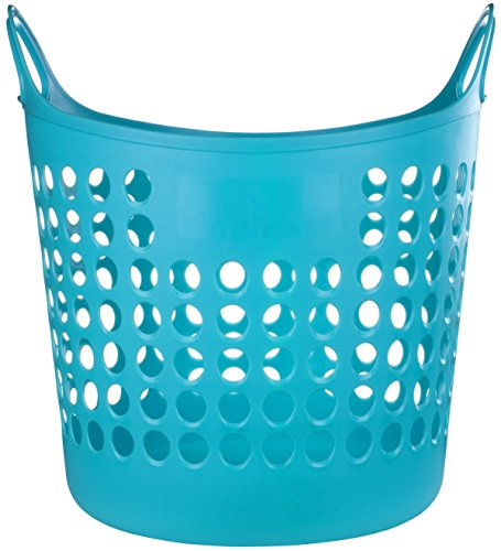elliott-1-piece-flexible-laundry-basket-turquoise