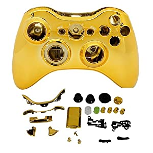 Shell Case Cover With Buttons For Wireless Controller XBOX 360 (GOLDEN)
