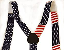 United States of America Flag Red White Blue Suspender