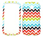 Rainbow Chevron Rubberized Snap-on Protective Cover Case for Samsung illusion I110 Samsung Galaxy Proclaim S720
