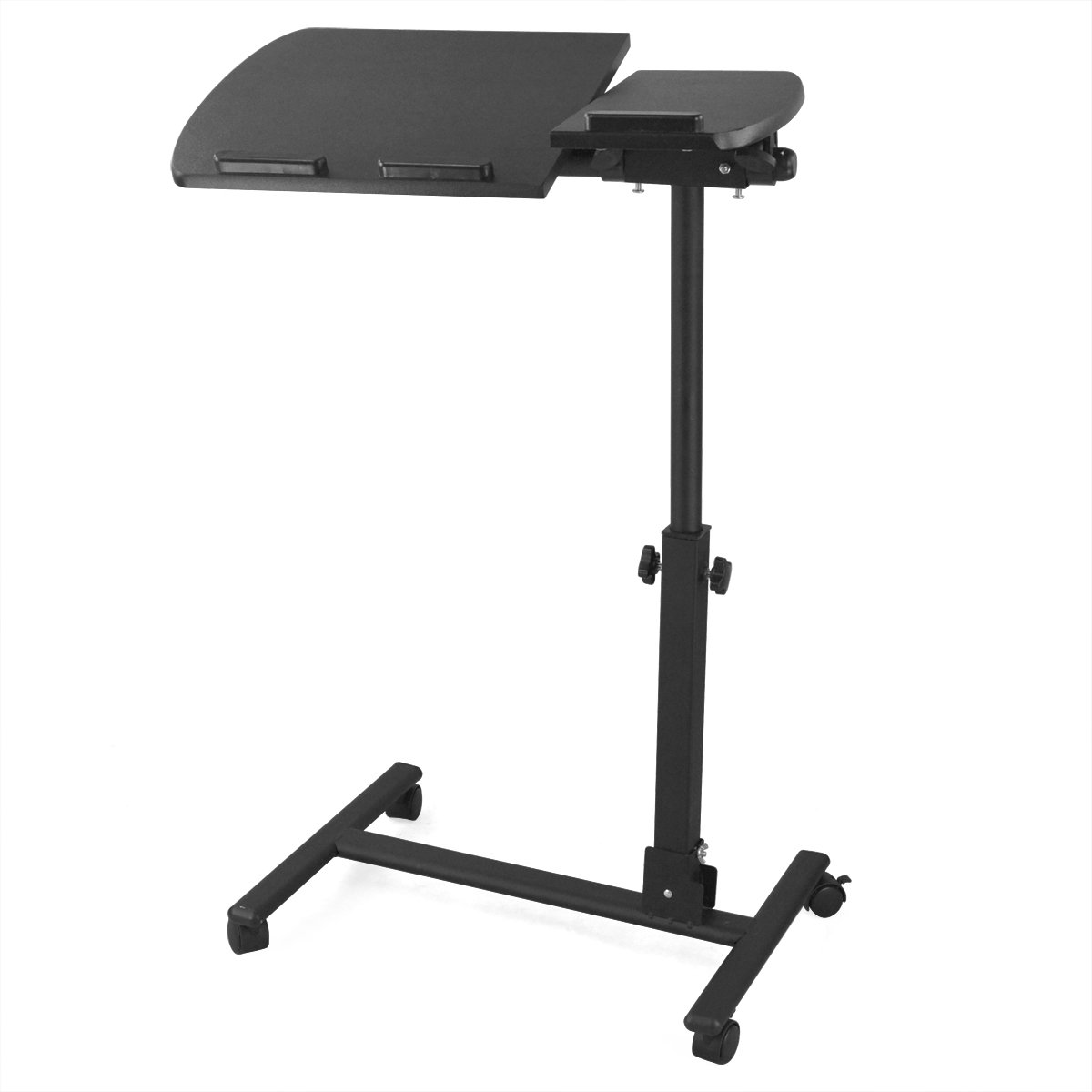 Tinxs Portable Adjustable Folding Laptop PC Table Stand Tray Lap Sofa Bed Tray Computer Notebook Desk Office Workstation (Black)Customer reviews
