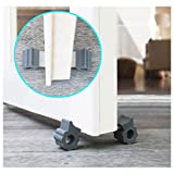 GTP-Door-Stopper-Revolutionary-New-Design-Stops-Door-Movement-Forward-And-Backward-Holds-Doors-Securely-In-Place-2-Highest-Quality-Aluminum-And-Silicone-Under-Door-Stops-Per-Pack-Ideal-For-Pet-And-Chi