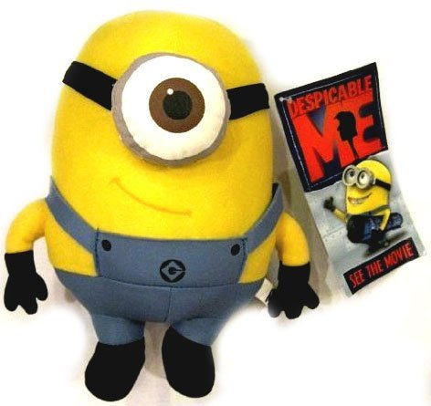 Despicable Me Deluxe 8-Inch Plush Figure Minion Stewart - 1