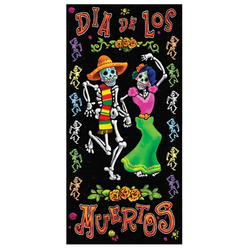 Day Of The Dead Door Cover Party Accessory (1 count) (1/Pkg)