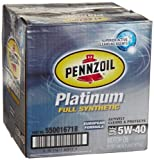 Pennzoil 550016718-6PK Platinum 5W-40 European Formula Full Synthetic Motor Oil - 1 Quart, (Pack of 6)