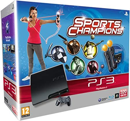 PlayStation 3 - Console 320 GB Move Starter Pack [K Chassis] + Sports Champions + 2 Controller PlayStation Move [Bundle]
