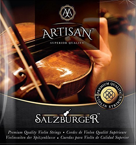 Artisan Violin Strings. Premium Quality. Fit 4 4 or 3 4 Size. 5 String Set G D A & 2 x Steel Ball End E Strings. Warmest Tones & Unmatched Durability. (Carbon Fiber Case Guitar compare prices)