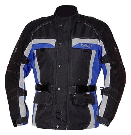 Wingx 700808L wanero veste de moto taille l (noir/bleu/argent
