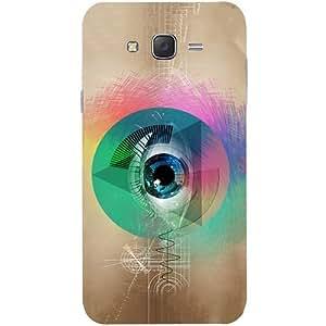 Casotec Eye Digital Art Design Hard Back Case Cover for Samsung Galaxy J7