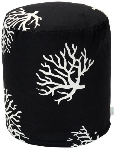 Majestic Home Goods Coral Pouf, Small, Black