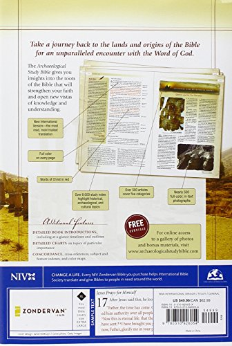 Image of NIV, Archaeological Study Bible, Hardcover: An Illustrated Walk Through Biblical History and Culture