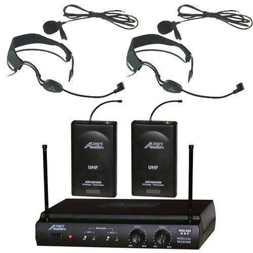 audio2000s-6032uf-uhf-dual-channel-auricular-inalambrico-de-banda-con-dos-de-microfono-y-dos-lavalie