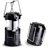 Ultra Bright LED Lantern - Camping Lantern - for Hiking, Emergencies, Hurricanes, Outages, Storms, Camping - Multi Purpose - Black - Divine LEDs