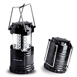 [Ultra Bright] LED Lantern - Best Seller - Camping Lantern - Collapses - Suitable for: Hiking, Camping, Emergencies, Hurricanes, Outages - Super Bright - Lightweight - Water Resistant - Black - Divine LEDs