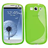 Samrick S Wave Hydro Gel Protective Case for Samsung Galaxy S3 i9300/LTE 4G - Green