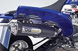 DG Performance 135 4160   Bullet Slip On with Spark Arrestor   Black Ceramic fits Yamaha YFZ 450  2004   2009