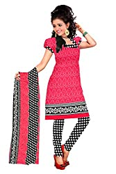Parinaaz Fashion Print Crepe Unstitched Straight Salwar Suit dress material