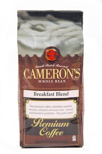 Cameron'S Breakfast Blend Whole Bean Coffee, 12-Ounce Bags (Pack Of 3)