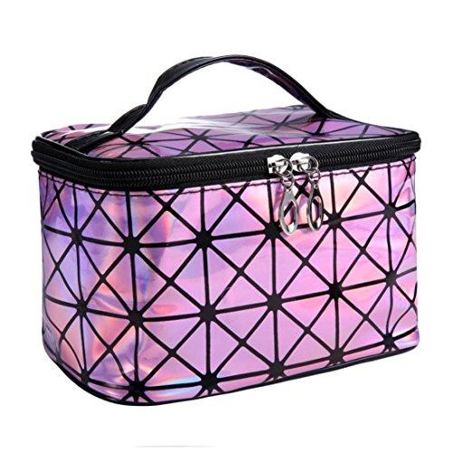 Sacchetto di trucco, 3D modello di diamante laser Cosmetic Bag Portable