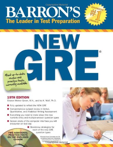 Barron's New GRE: Graduate Record Examination (Barron's Gre)