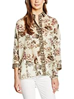 Fay Camisa Mujer (Beige / Musgo)