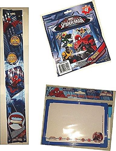 Spiderman SKYDIAMOND KITE Puzzle Dry Erase Board Gift Travel Activity Set Poly Diamond