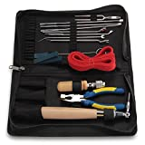 Set of 15pcs Professional Piano Tuning Maintenance Tools with Carrying Bag