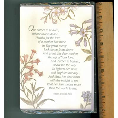 Mother Card. Inspirational Card. Religious Card. Mom Birthday